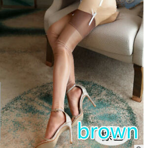 Women High Stockings Non Stretch Body Stockings Thin Thigh High Vintage Hosiery