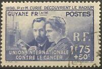 French Guiana #YT149 Used CV€18.00 1938 Curie Radium Cancer [B3][STOCK IMAGE]