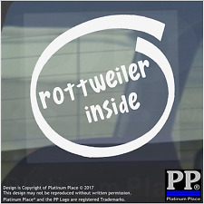 1 x Rottweiler Inside-Window,Car,Van,Sticker,Sign,Adhesive,Dog,Pet,On,Board,Lead