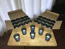 Votives Candles with Blue Glass Holders