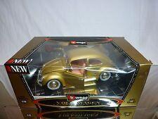 BBURAGO 3361 VW VOLKSWAGEN BEETLE - GOLD 1:18 - GOOD IN BOX