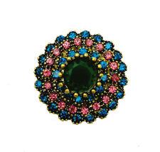 3D Crystal Eye Chunk Charm Snap Button Fit For Noosa Necklace/Bracelet  NSKZ57