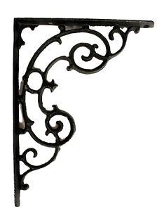 Shelf Bracket in Cast Iron Classic Antique Style Swirls - Pair