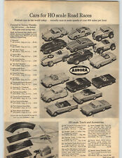 1965 PAPER AD Aurora HO Scale Slot Race Cars Cox Strombecker Revell KB