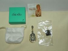 Carolyn Pollack Fashion Sterling Silver and Brass Pendant / Enhancer Retired