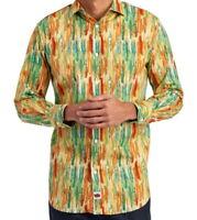 Jerry Garcia Mens L/S Shirt *  Abstract Multi Print Size XXL Stretch NWT