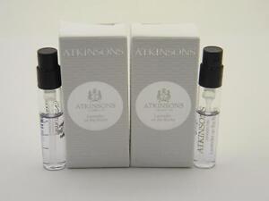 2 x Atkinsons Lavender On The Rocks EDP Vial Sample Spray 0.06 fl oz 2ml