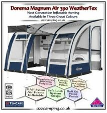 New Blue 2018 Dorema Magnum Weathertex Air 390 All Inflatable Blow Up Awning