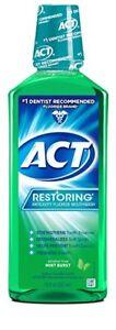 ACT Restoring Anticavity Fluoride Rinse, Mint Burst, 18 oz (2 Pack)