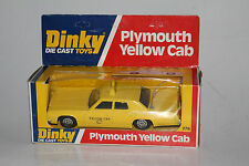 DINKY TOYS #278 PLYMOUTH YELLOW TAXI CAB, EXCELLENT, BOXED
