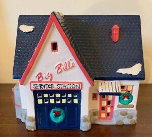 Department Dept 56 Snow Village Big Bill's Service Station 1989 Vintage