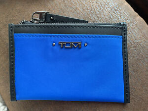 NEW TUMI  VISTA Small Zip Card Case/Wallet - DAZZLING BLUE