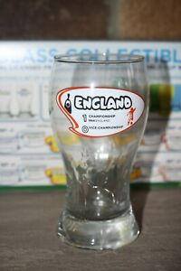 NEW 2014 FIFA WORLD CUP BRAZIL BEER T-GLASS 16OZ PINT GLASS ENGLAND ETCHED