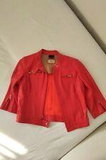 Fendi Women's Leather Vintage Jacket Orange Sz Italian 42