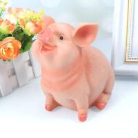 Resin Craft Pig Piggy Bank Coin Money Cash Collectible Saving Box Toy Kids Gift
