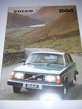 ORIGINAL VOLVO 244 SALES BROCHURE 1980