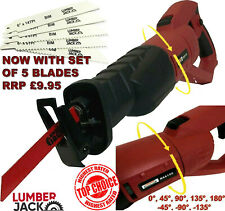 Lumberjack Reciprocating Saw 240V for Cutting Wood Metal Universal Recip Blades