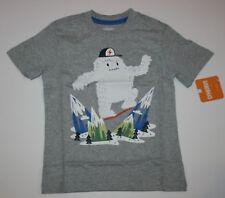 Nuovo Gymboree Grigio Manica Corta Yeti T-Shirt Top Maglia 3T con Etichetta