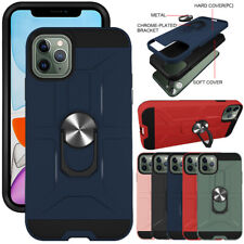 For iPhone 11/11 Pro Max Case Magnetic Ring Holder Stand Hybrid Hard Phone Cover