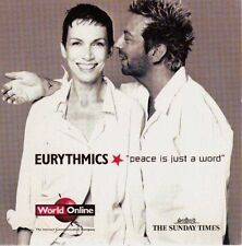 EURYTHMICS - PEACE IS JUST A WORD = TRACKS LISTED BELOW= PROMO = VGC