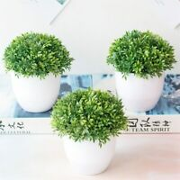 NEW Artificial Plants Bonsai Small Pot Plants Fake Flowers For Home Decoration