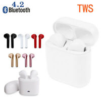 Dual Wireless Bluetooth Earbud Headset In-Ear Earphone Stereo for  iPhone X 8 7