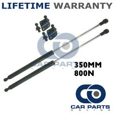 2X UNIVERSAL GAS STRUTS SPRINGS KIT CAR OR CONVERSION 350MM 35CM 800N & BRACKETS
