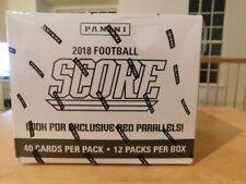 2018 Score Football Factory Sealed Jumbo Fat Pack Box Lamar Jackson Mayfield