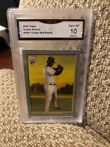 Yordan Alvarez Turkey Red Rookie 2020 Topps Graded 10 Houston Astros