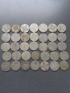 35  x  Pre 1947 Silver Florins GEORGE V + VI  387.6 Gms,