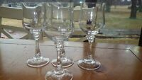Crystal Wine Glasses 4 8 oz elegant stem lovely ring tone Elegant stemware