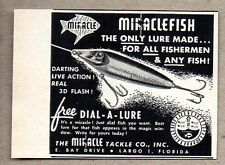 1957 Print Ad Miraclefish Fishing Lures Miracle Tackle Co Largo,FL