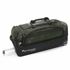 "OLIVE PATHFINDER GEAR 32"" DROP BOTTOM ROLLING WHEELED DUFFEL BAG DUFFLE  SPORT"