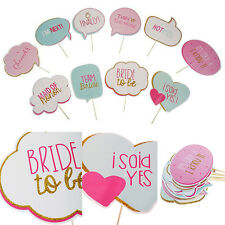 10x Photo Booth Props Wedding Hen Party Photography Bridal Shower Selfie Kit DIY