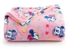 NEW Holiday Gift Mickey Minnie Mouse Throw Blanket Oversize Super Soft 60x72