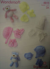 Stylecraft Baby Hats, Mittens & Bootees Knitting Pattern 8615  Double knitting