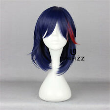 For KILL la KILL Matoi Ryuko Dark Blue mixed Red 16'' Medium Anime Cosplay Wig
