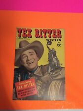 Tex Ritter Western #1 (Fawcett Oct.1950)  1st Issue Nice Shape
