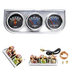 2'' 3in1 Voltmeter+Water Temp +Oil Pressure Gauge Meter Car SUV Triple Gauge Kit