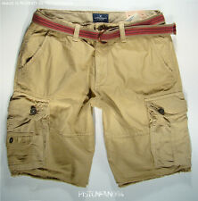 American Eagle Mens Khaki Belted Frayed Cargo Shorts 32 NWT