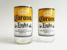 Corona Light Beer Bottle Tumblers Drinking Glasses Set Of 2