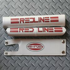 1980 white Redline Proline vinyl padset BMX oldschool snap button vintage RARE