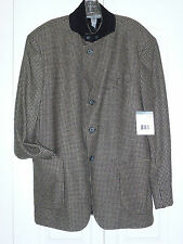 BRAND NEW WITH TAGS, LIZ CLAIBORNE HOUNDSTOOTH JACKET, FULLY LINED SIZE 40R