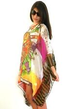NEW Tunic Kaftan Caftan Resort Wear Loose One Size Beach Cover Up Dress White