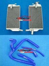 Aluminum Radiator+Blue Y Hose kit for Honda CR250 CR250R CR 250R 2002 2003 2004