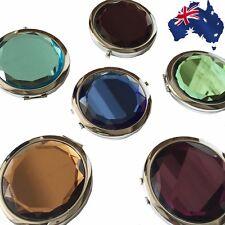 Crystal Folding Round Pocket Compact Cosmetic Mirror Color Random JMIRR0101
