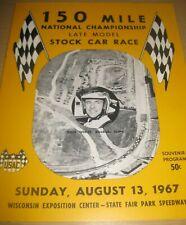 1967 USAC 150 Mile Stock Car Race Wisconsin State Fair Park
