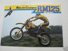 S323 SUZUKI BROCHURE RM125 RIDE THE CHAMPION CROSS 1984 ENGLISH 4 PAGES WATANABE