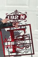 Custom Name and Address Plaque Combo Metal Wall Art Decor. Great Gift! 16ga
