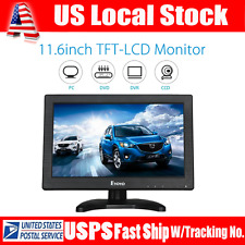 "Portable 11.6"" TFT LCD Color Monitor HDMI BNC AV Input for PC CCTV Security Cam"